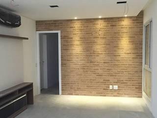 Projeto Apartamento Moderno no Brooklin.: Salas de estar  por Reformas Inteligentes!