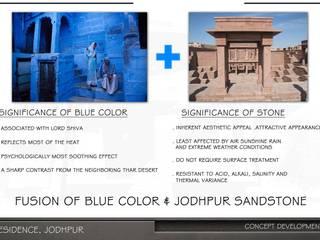 The Vernacular house Design Shelve Bungalows Sandstone Blue