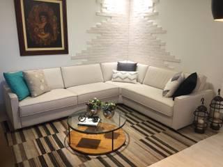 Apartamento Barra da Tijuca - Rio de Janeiro: Salas de estar  por Claudia Saraceni