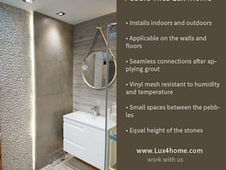 Pebble Tile - Bathroom Pebble Tiles wall Lux4home: modern Bathroom by Lux4home™ Indonesia