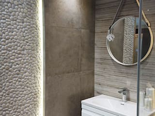 Pebble Tile - Bathroom Pebble Tiles wall Lux4home: minimalistic Bathroom by Lux4home™ Indonesia