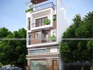 Nhà phố hiện đại - Anh Tịnh bởi Công ty CP kiến trúc và xây dựng Eco Home