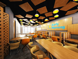 Early Morning Restaurant KSA Comedores de estilo moderno de Zoning Architects Moderno