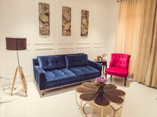 """""""House of Festivities"""" Eclectic style living room by Nikunj Sharma Design Studio Eclectic"""