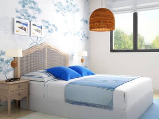 Taller de Interiores Mediterraneos Modern Bedroom