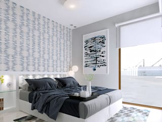 Diseño y decoración de Dormidorios Dormitorios de estilo moderno de Taller de Interiores Mediterraneos Moderno