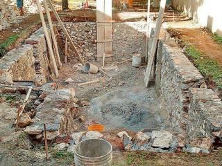Construcción de alberca: Albercas de jardín de estilo  por Heftye Arquitectura
