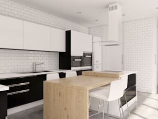 Kitchen by A3D INFOGRAFIA, Modern