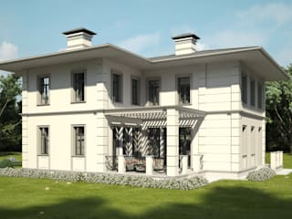 Проект небольшого двухэтажного дома: Дома с террасами в . Автор – IL design