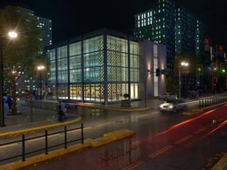 Render Edificio - Exterior de Arqed Moderno