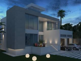 Fachada Principal: Casas de estilo minimalista por Arqed