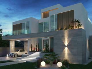 Fachada Principal: Casas unifamiliares de estilo  por Arqed