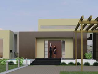 Fachada Principal. : Casas de estilo  por IAA LTDA