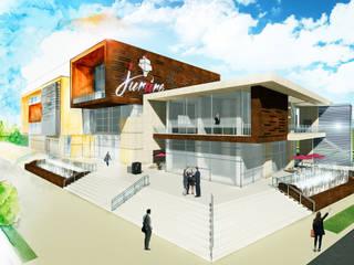 Centro Comercial: Casas de estilo industrial por IAA LTDA