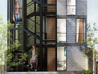 Departamentos El Pino: Casas de estilo  por Apaloosa Estudio de Arquitectura y Diseño