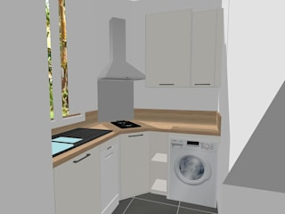 مطبخ ذو قطع مدمجة تنفيذ S'PACE HABITAT / S'PACE HOME DESIGN