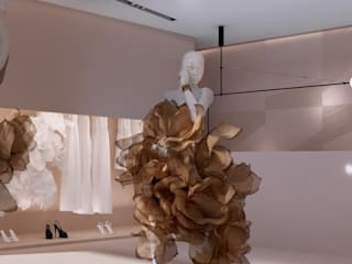 Projekt nowoczesnego wnętrza sklepu od Mono architektura wnętrz Katowice Minimalistyczny