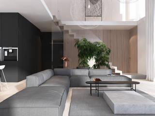 Wnętrza domu w Chorzowie od Mono architektura wnętrz Katowice Minimalistyczny