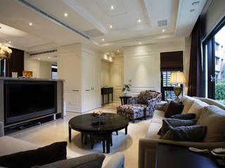 台北華城 Moderne Wohnzimmer von G.T. DESIGN 大楨室內裝修有限公司 Modern