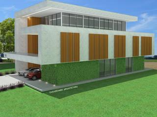 Casa Moderna: Casas familiares  por CASAGRANDE ARQUITETURA