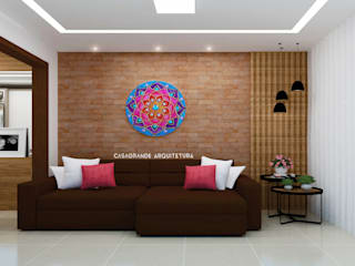 sala de estar/sofá:   por CASAGRANDE ARQUITETURA