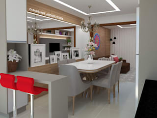 sala de jantar: Salas de jantar  por CASAGRANDE ARQUITETURA