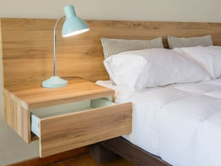 Contemporary Headboard with Pedestals: modern  by Going Contemporary Urban Furniture Online, Modern