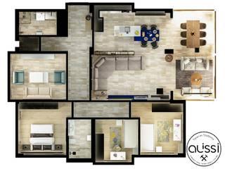 Modern walls & floors by ALİSSİ İÇ MİMARLIK Modern