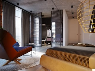 Industrial style bedroom by Planka Industrial