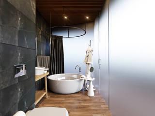 Industrial style bathroom by Planka Industrial