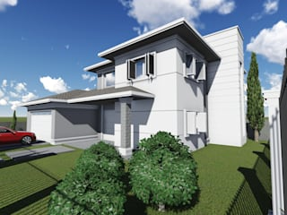 Cláudia Legonde Single family home Concrete White