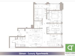 Progetto per arredo classico - appartamenti in complesso residenziale: Pareti in stile  di Architetto Libero Professionista, Classico