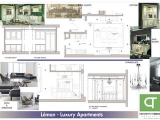 Progetto per arredo classico - appartamenti in complesso residenziale: Soggiorno in stile  di Architetto Libero Professionista, Classico
