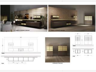 Collezione di arredi d'interni:  in stile  di Architetto Libero Professionista, Moderno