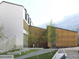 Primo Premio concorso pubblico: edificio scolastico polifunzionale: Casa prefabbricata  in stile  di Architetto Libero Professionista, Moderno