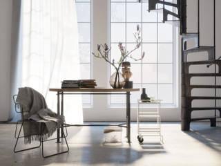 Delicate Industrial: Studio in stile in stile Industriale di Gianluca Muti Interior & 3D Designer