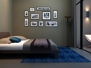 A duplex Villa: minimalistic Bedroom by  Ashleys