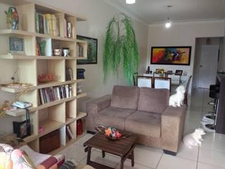 Sala de estar e jantar para um jovem casal por Jéssika Martins Design de Interiores Moderno