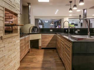 Espaço Gourmet em casa!: Terraços  por Andréa Spelzon Interiores,Rústico