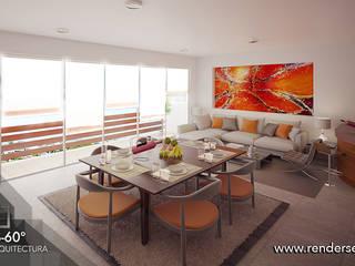 Interior Penthouse: Salas de estilo  por Tres-60 grados