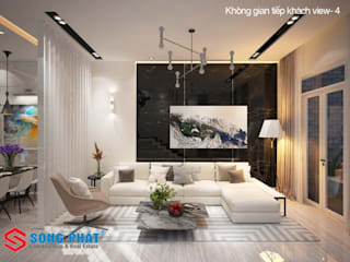 Asian style living room by Công ty TNHH TK XD Song Phát Asian