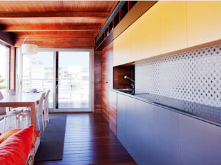 Gemmalo arquitectura interior Built-in kitchens Wood Yellow