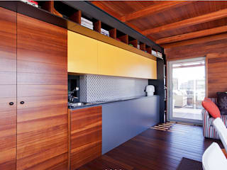 Gemmalo arquitectura interior Built-in kitchens Wood Brown