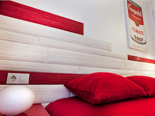 Gemmalo arquitectura interior Modern style bedroom Red