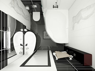 Minimalist style bathroom by Татьяна Третьякова - дизайнер интерьера Minimalist