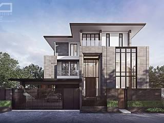 K.zing's House:  บ้านและที่อยู่อาศัย by evodezign co.,ltd.