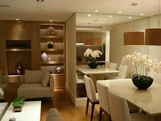 2bhk Kolkata Modern living room by HANNAH INTERIOR CONCEPTS Modern