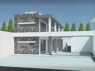 PLAZA SAN ANDRES Balcones y terrazas modernos de ODRACIR Moderno