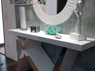 Sala de uma Moradia de Luxo em Barcelos: Corredores e halls de entrada  por Atelier Kátia Koelho