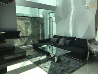 Interiores de Agua Marina: Salas de estilo moderno por GAX Estudio de Arquitectura